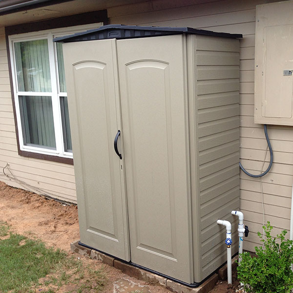 Water softeners solutions for richmond katy and sugar land tx for Exterior hot water heater enclosure